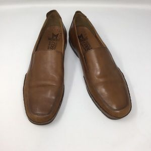Mephisto brown leather Italian driving loafers
